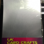 10 x A4 Brushed Silver 300gsm Card - UK Card Crafts